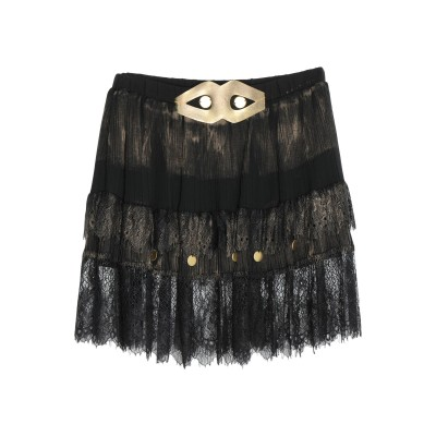 GIL SANTUCCI ひざ丈スカート ブラック 42 レーヨン 100% ひざ丈スカート