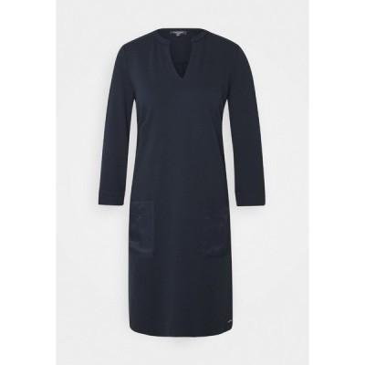 マイン トゥ ファイブ トム テイラー ワンピース レディース トップス DRESS POCKETS STRAIGHT - Jersey dress - sky captain blue