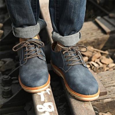 メンズ ビジネスシューズ シューズ ブーツ 革靴 レザー 靴 ワークシューズ 歩きやすい カジュアル 防滑 紳士靴 アウトドア 通学 通勤 おしゃれ