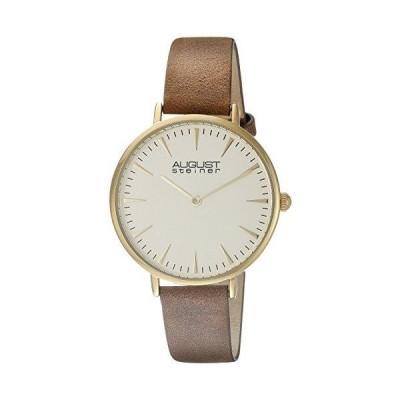 オーガストシュタイナ August Steiner 女性用 腕時計 レディース ウォッチ ブラウン AS8187YGBR