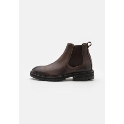 ハドソンロンドン メンズ 靴 シューズ CANFORD - Classic ankle boots - brown