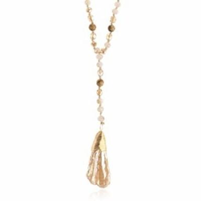 RIAH FASHION Bohemian Pendant Long Beaded Statement Necklace - Sparkly Crystal, Natural Stone Quartz Charm, Boho Wood Bead Long