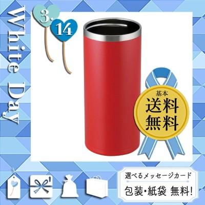 母の日 ギフト 2021 花 水筒 マグ プレゼント カード 水筒 マグ フォルテック 缶クールキーパー 500ml レッド