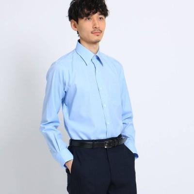 タケオ キクチ TAKEO KIKUCHI マイクロドットブロードシャツ[ メンズ トップス シャツ ビジネス 結婚式 ノンアイロン ] (ライトブルー)