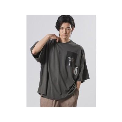 Tシャツ、カットソー半袖(柄、パターン) Tシャツ モノトーンデザイン モンスター/ユニセックス ラウンドヘム