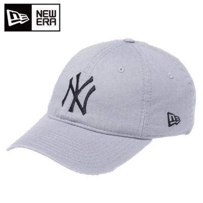 ニューエラ キャップ メンズ レディース 9TWENTY Cloth Strap ウォッシュドコットン ニューヨーク ヤンキース グレー × ブラック NEW ERA11308522