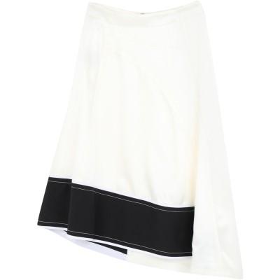 デレク ラム DEREK LAM 7分丈スカート アイボリー 40 レーヨン 62% / アセテート 38% / コットン 7分丈スカート