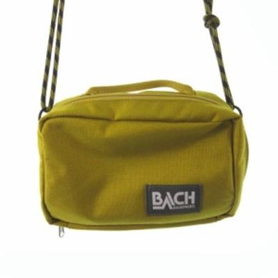 【中古】バッハ BACH ショルダーバッグ ハンドバッグ 斜めがけ 2WAY マスタード 辛子色 キャンバス 鞄 メンズ