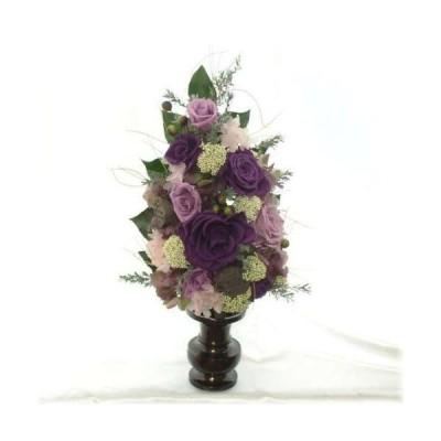 お仏壇神棚のお供えアレンジ華紫のバラのプリザーブドフラワー