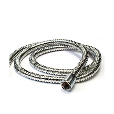 hotelspa 5 to 2.1m extra long stretchable stainless steel shower hose stret