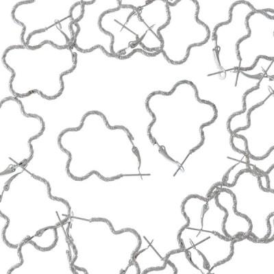 フープピアス パーツ シルバー 20個 フラワー デザインカン 花 フープ金具 ピアスパーツ ピアス金具 アクセサリーパーツ AP1841