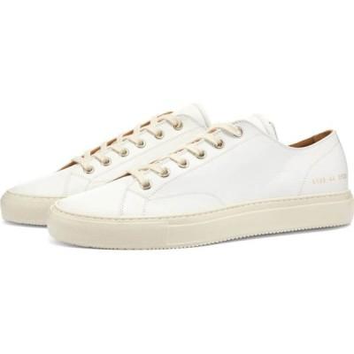 コモン プロジェクト Common Projects メンズ スニーカー シューズ・靴 tournament low leather shiny White