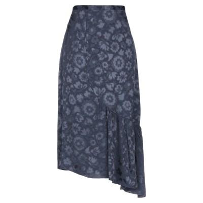 バイ・マレーネ・ビルガー BY MALENE BIRGER ロングスカート ダークブルー 36 レーヨン 100% ロングスカート