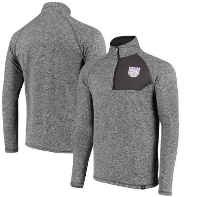 サクラメント・キングス Fanatics Branded Static Quarter-Zip Pullover ジャケット - Heathered Charcoal
