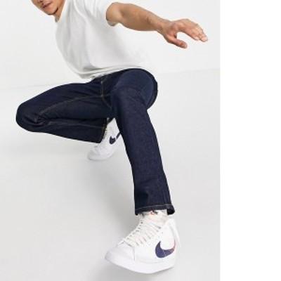 トップマン メンズ デニムパンツ ボトムス Topman organic cotton stretch slim jeans in raw denim Blues
