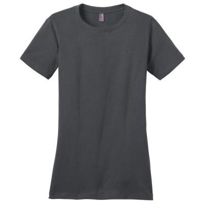 レディース 衣類 トップス District Made Women's Perfect Weight Crewneck T-Shirt_Charcoal_Small Tシャツ
