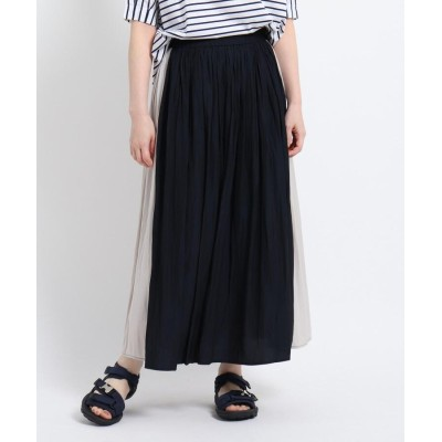 Dessin(Ladies)(デッサン(レディース)) 【XS~Lサイズあり・洗える】パウダーサテン切り替えスカート
