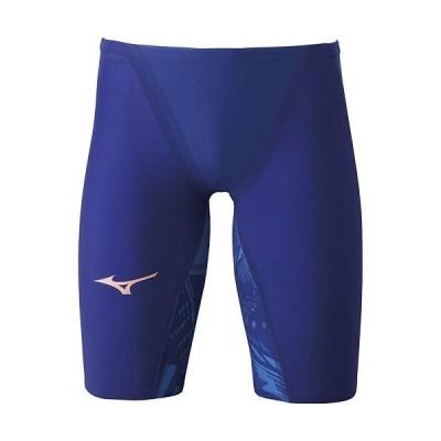 ミズノ(MIZUNO) メンズ 高速水着 GX SONIC V ハーフスパッツ リフレックスブルー N2MB0502 20 競泳水着 FINA承認 スイムウェア レース 試合 大会 競技