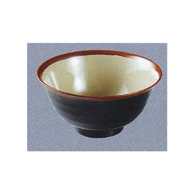 エンテック メラミン食器 「長次郎窯」 AN59G 羽反り丼(小) 790ml 内若草