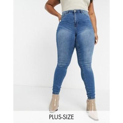 ジュナローズ レディース デニムパンツ ボトムス Junarose skinny jeans in blue