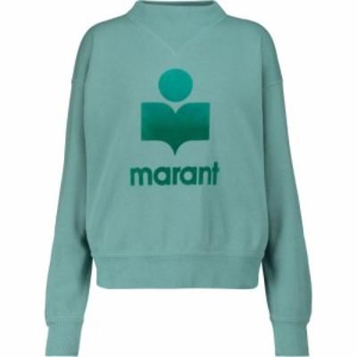 イザベル マラン Isabel Marant. Etoile レディース スウェット・トレーナー トップス moby cotton-blend sweatshirt Light Petrol