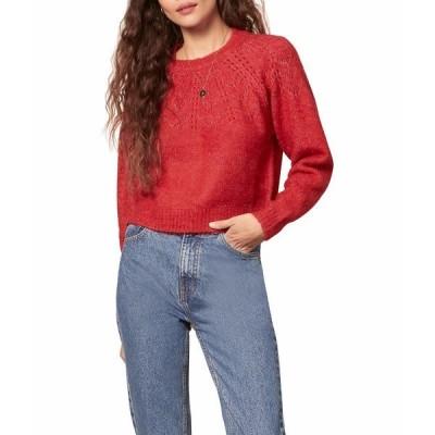 ビービーダコタ ニット&セーター アウター レディース Turn Knit Up Sweater Crimson Red