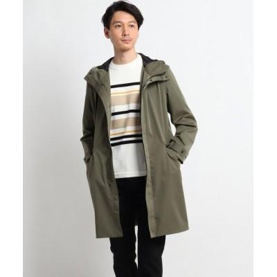【タケオキクチ】 ツイルストレッチフード付きコート メンズ カーキ 03(L) TAKEO KIKUCHI