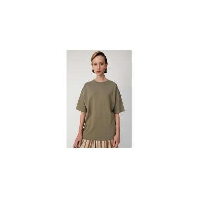 moussy CREWNECKSTITCHTシャツ ライトカーキ