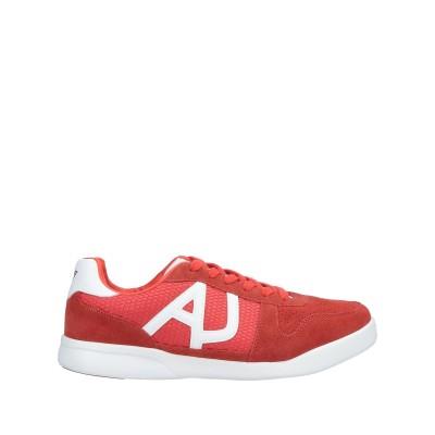 アルマーニ ジーンズ ARMANI JEANS スニーカー&テニスシューズ(ローカット) オレンジ 43 革 / 紡績繊維 スニーカー&テニスシュー