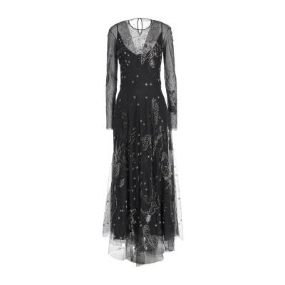 .AMEN. ロングワンピース&ドレス ブラック 40 ナイロン 100% ロングワンピース&ドレス