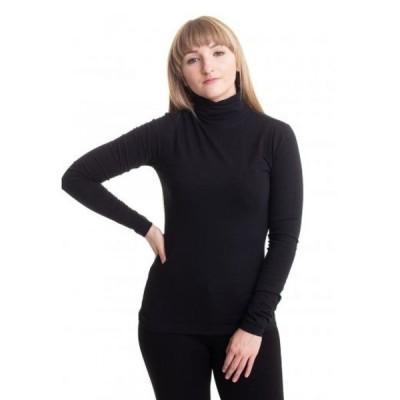アーバンクラシックス Urban Classics レディース 長袖Tシャツ タートルネック トップス - Basic Turtleneck Black - Longsleeve black