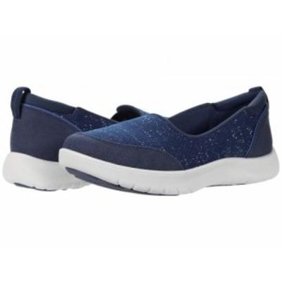 Clarks クラークス レディース 女性用 シューズ 靴 スニーカー 運動靴 Adella Blush Navy Textile【送料無料】