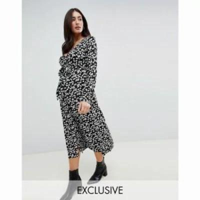 エイソス ワンピース ASOS DESIGN Maternity button through maxi dress in washed floral Multi