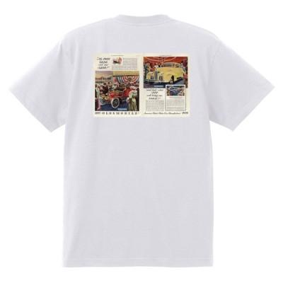 アドバタイジング オールズモビル 710 白 Tシャツ 黒地へ変更可 1939 ロケット アメ車 アドバタイズメント 看板 広告 雑誌