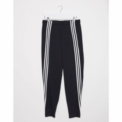 アディダス adidas performance レディース ジョガーパンツ ボトムス・パンツ adidas Training high waisted three stripe joggers in bl