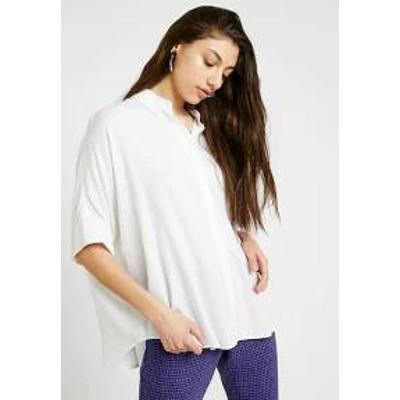 Monki レディースシャツ Monki LUKA BLOUSE - Button-down blouse - white white