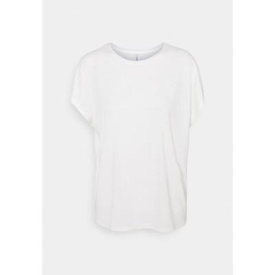 オンリー トール Tシャツ レディース トップス ONLFREE LIFE - Basic T-shirt - cloud dancer