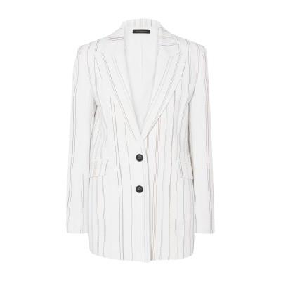 ローラン ムレ ROLAND MOURET テーラードジャケット ホワイト 8 レーヨン 50% / アセテート 47% / ポリウレタン 3% テ
