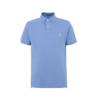 POLO RALPH LAUREN ポロシャツ パステルブルー XS コットン 100% ポロシャツ