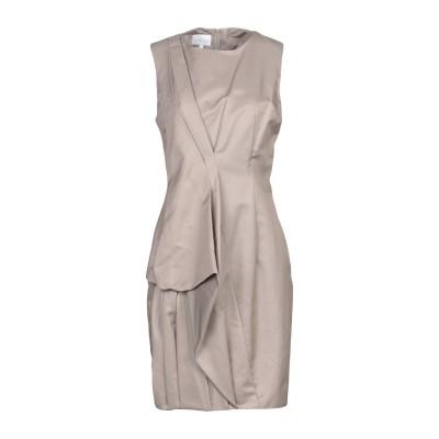 LES HOMMES - FEMME ミニワンピース&ドレス ライトブラウン 42 毛(アルパカ) 68% / 麻 32% ミニワンピース&ドレス