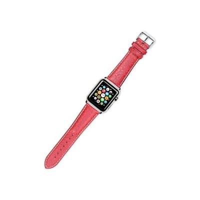 デビアー deBeer リプレイスメント ウォッチ ストラップ - スポーツ レザー - レッド - フィット 38mm Apple (海外取寄せ品)