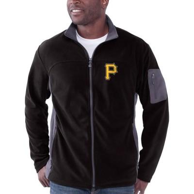 ピッツバーグ・パイレーツ Relay Throw Poly Fleece Full Zip ジャケット - Black