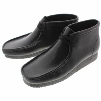 定番 クラークス Clarks シューズ ワラビーブーツ Wallabee Boot ブラックレザー 980E-B