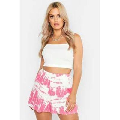 Boohoo レディーススカート Boohoo Plus Tie Dye Flippy Shorts pink
