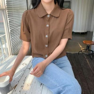 レディース ブラウス Natural linen blouse