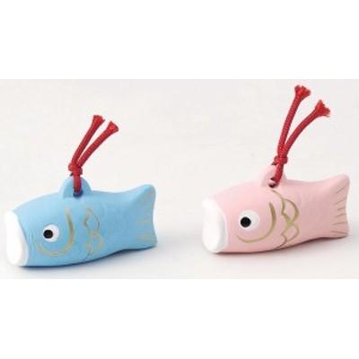 五月人形 コンパクト 陶器 小さい 鯉のぼり/ 鯉のぼり福鈴子供 青 /こどもの日 端午の節句 初夏 お祝い 贈り物 プレゼント