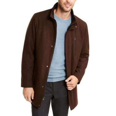 カルバンクライン メンズ ジャケット・ブルゾン アウター Men's Long Open Bottom Overcoat
