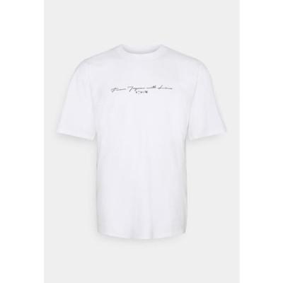 エドウィン メンズ ファッション NAZO CHEST TS - Print T-shirt - white