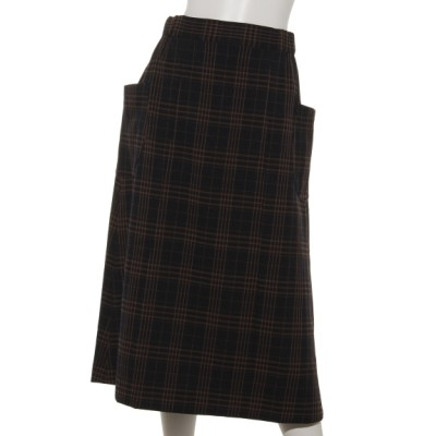 VALKURE (ヴァルクーレ) レディース 【HONEY CHURCH】チェックサイドポケットスカート 濃紺 F