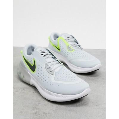 ナイキ メンズ スニーカー シューズ Nike Running Joyride Dual Run in white and green